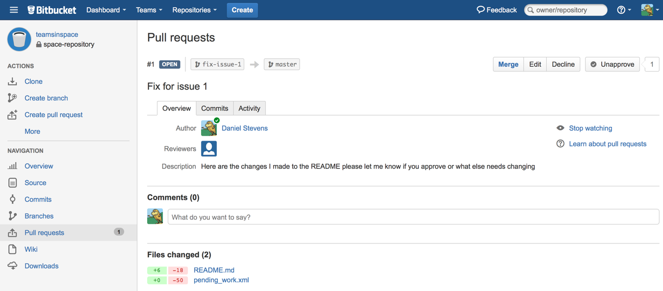 Pull request approval