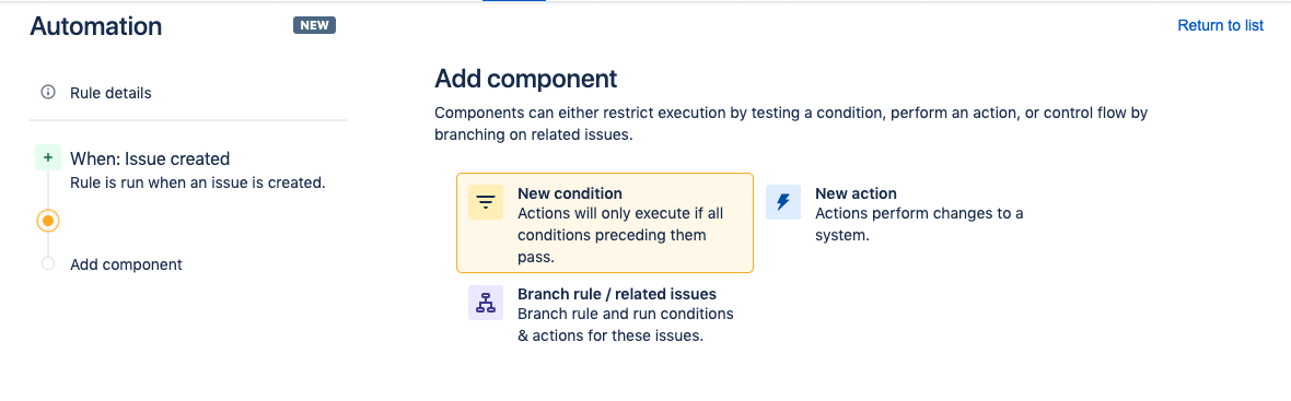Add a new condition component