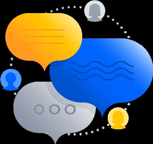 Chat bubbles