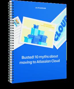Изображение: обложка технического документа «10мифов о переходе в Atlassian Cloud»