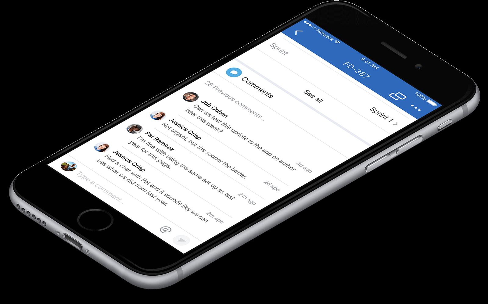 Mobiltelefon Jira-jegyhez fűzött megjegyzésről szóló értesítéssel