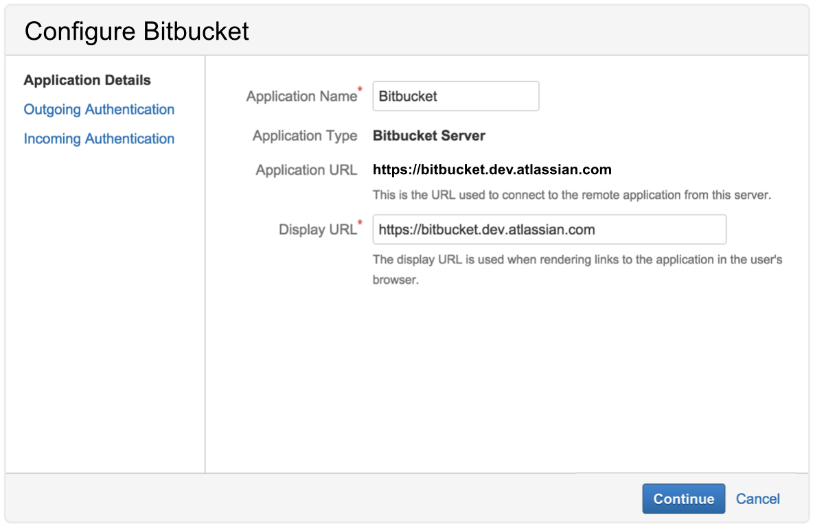 Configure Bitbucket screenshot