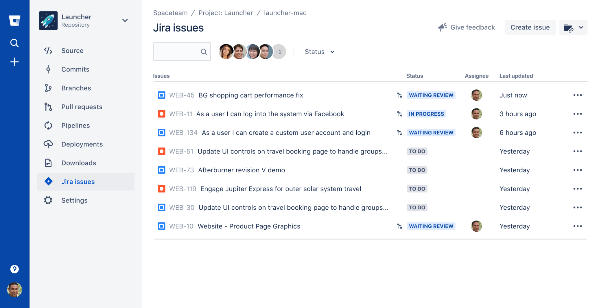 Jira Issues Tab