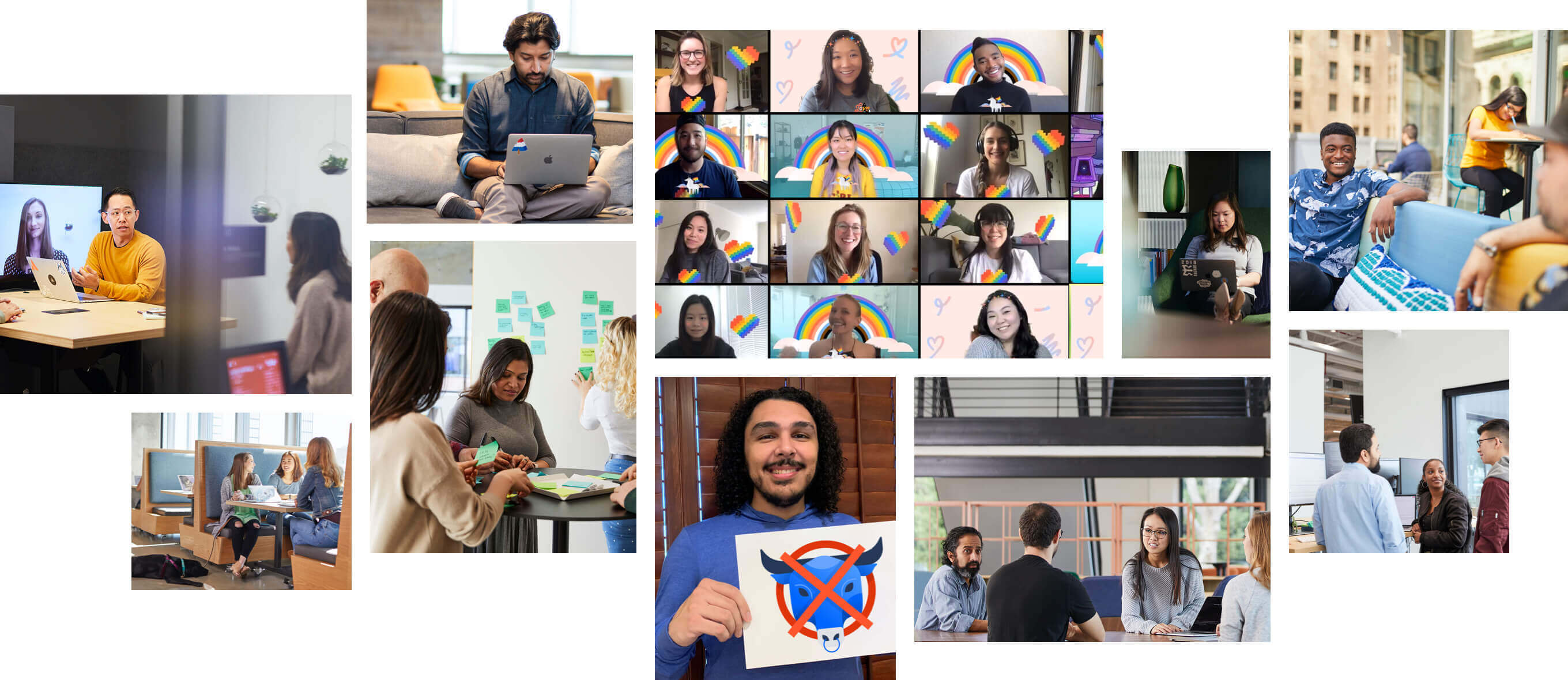 Photo collage of Atlassian employees