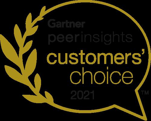 Gartner peer insights 客户选择奖 2021 徽标