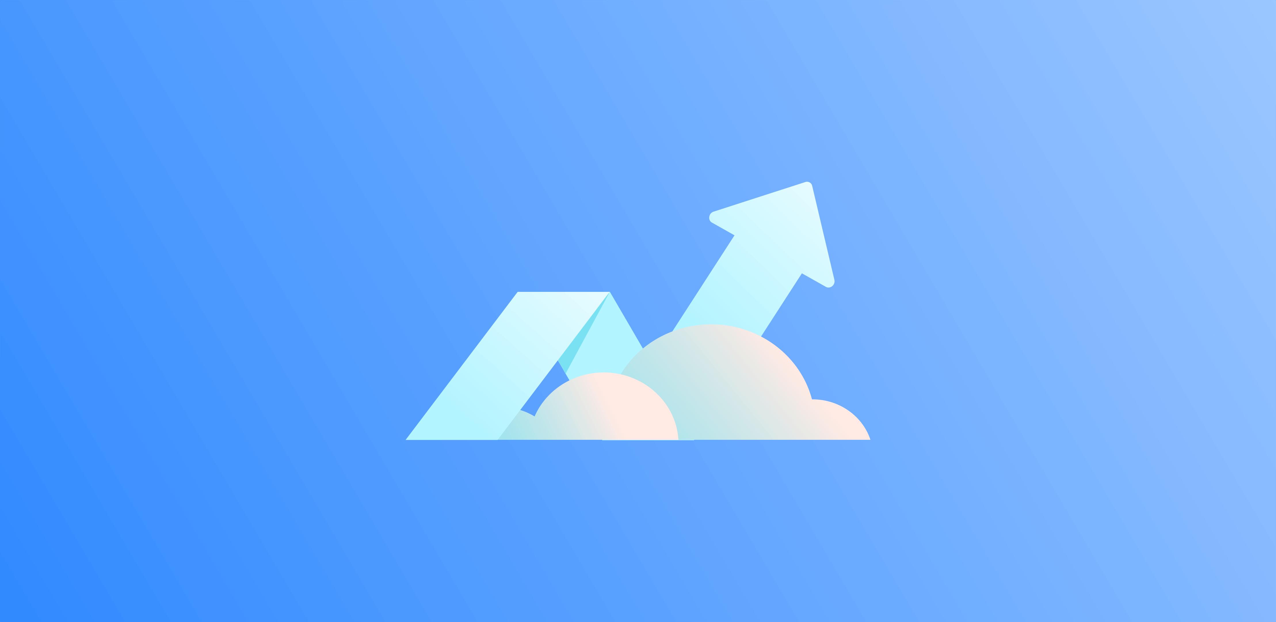 구름 속의 화살표