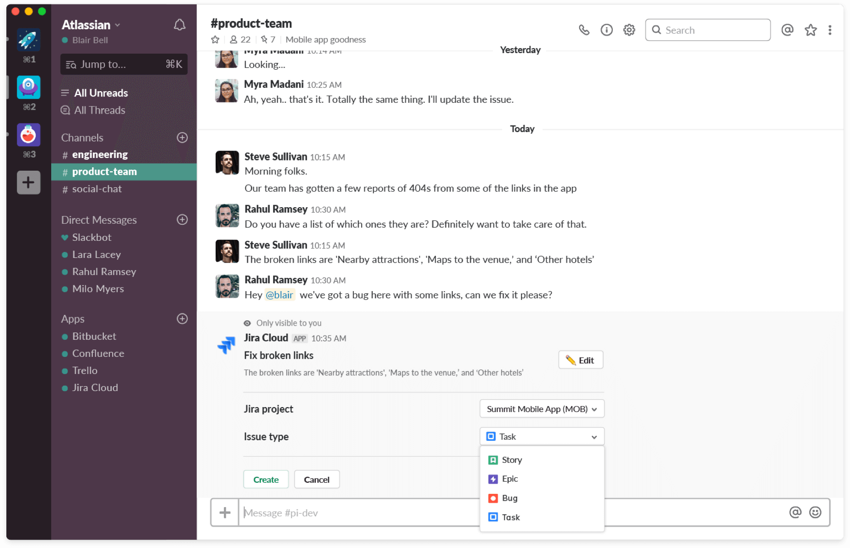 New ways to interact with Jira issues from Slack