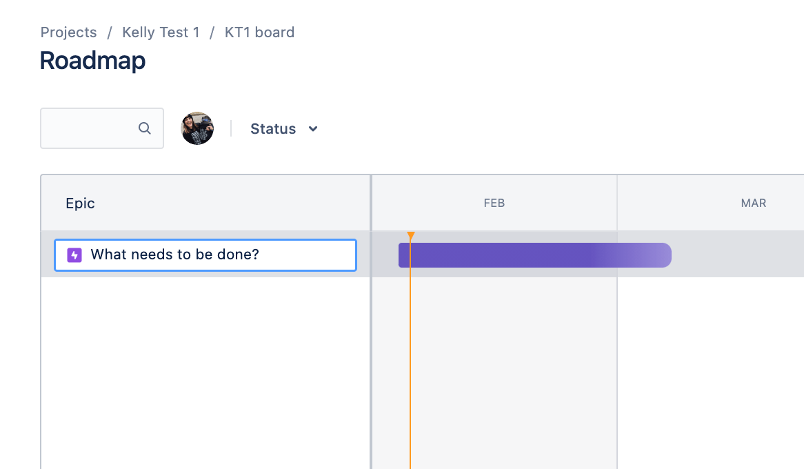 Creating the first epic on the roadmap in Jira Software