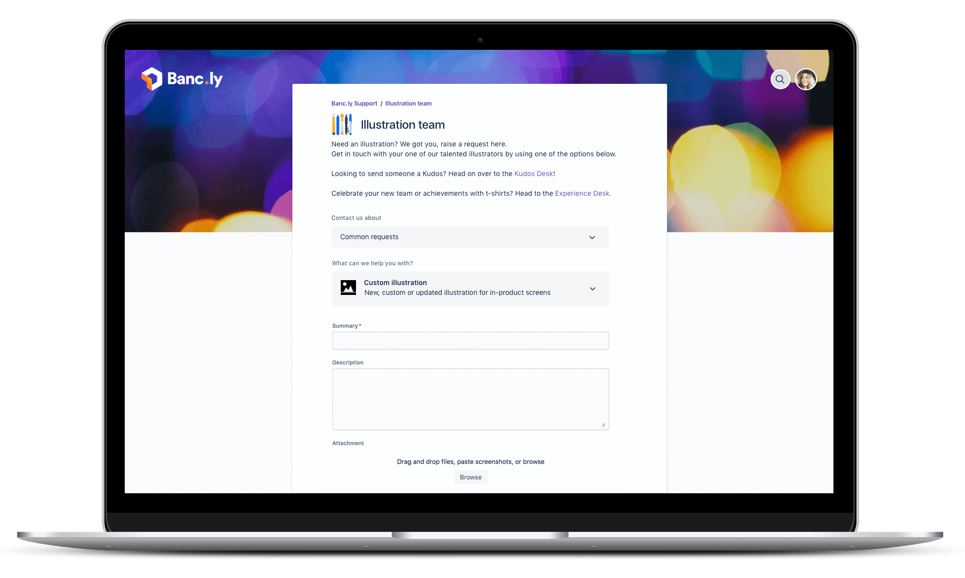 Снимок экрана Jira Service Desk на ноутбуке