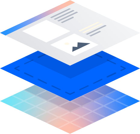 Layouts de página em camadas