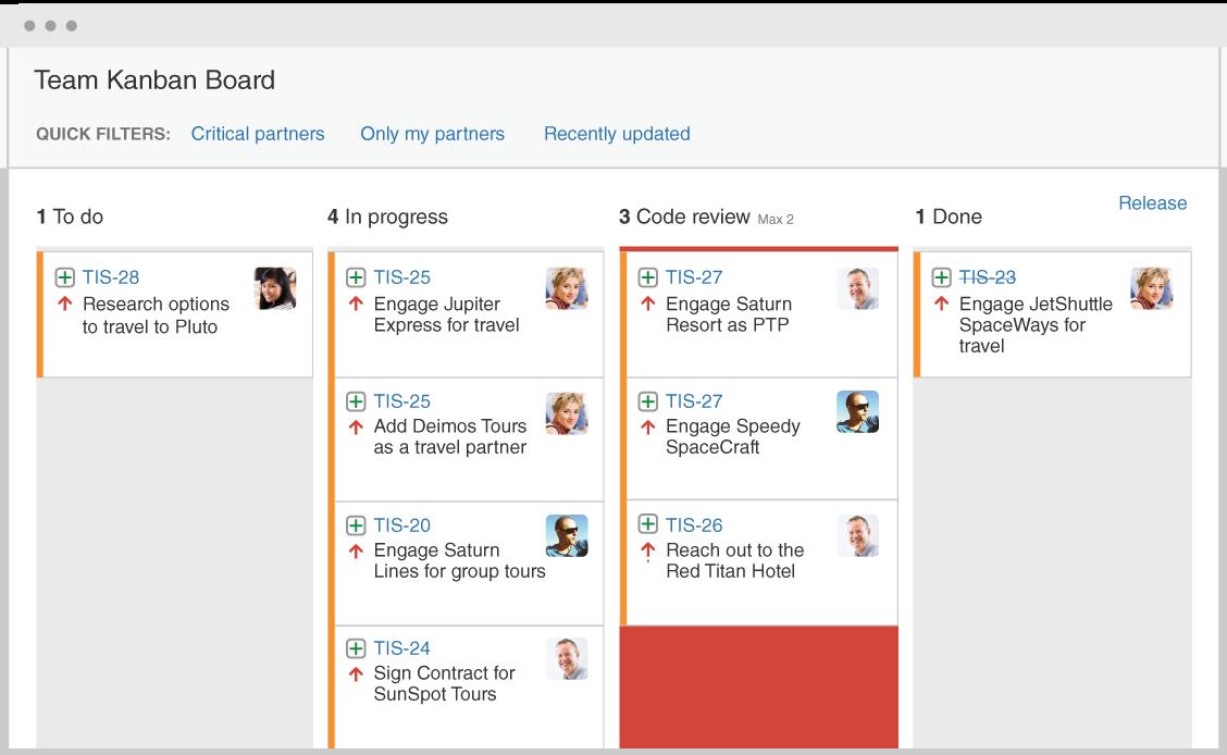 Agiles Kanban Board  Atlassian Agile Coach