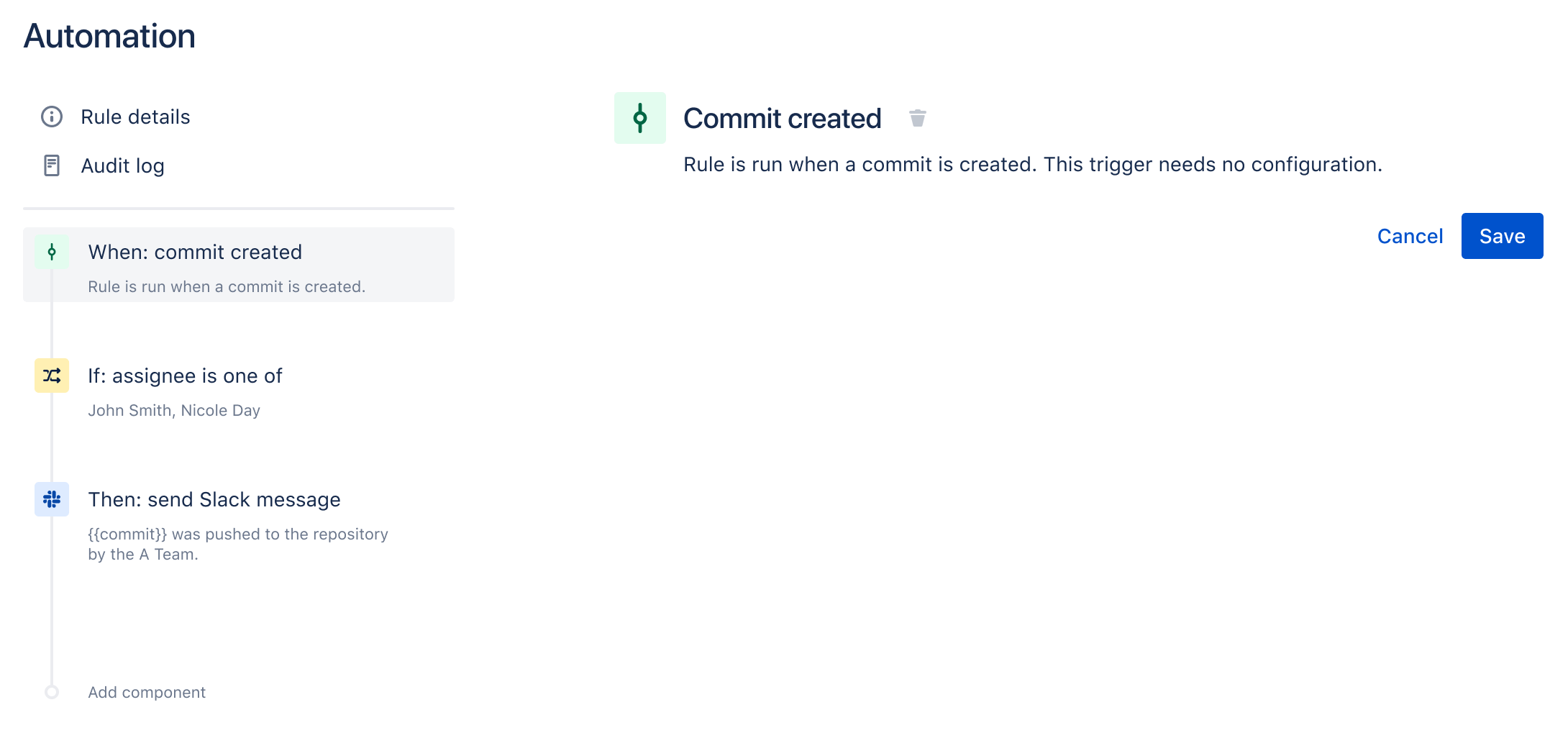 Commit created
