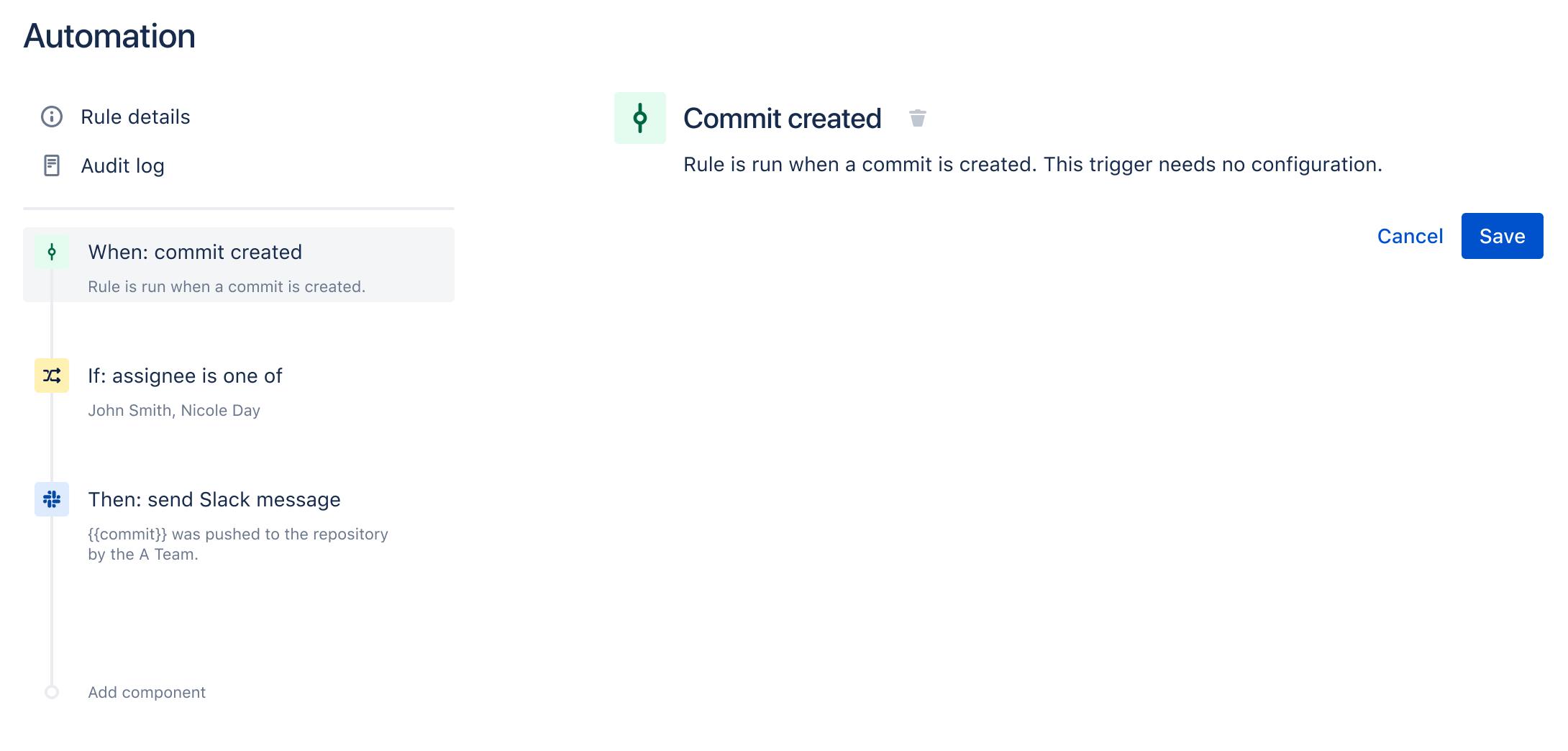 Commit erstellt
