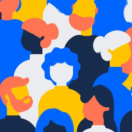 人の集団のイラスト