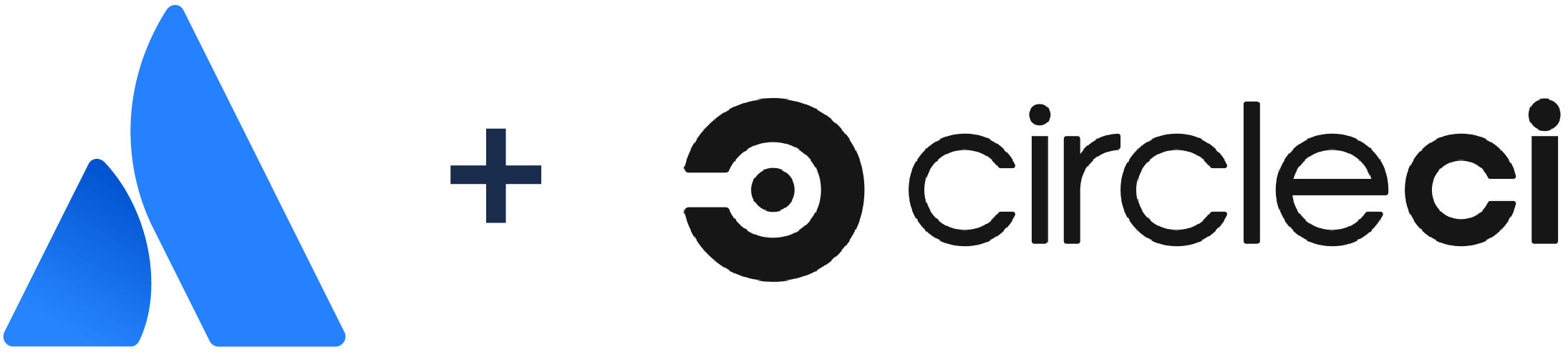 Atlassian logo + CircleCI logo