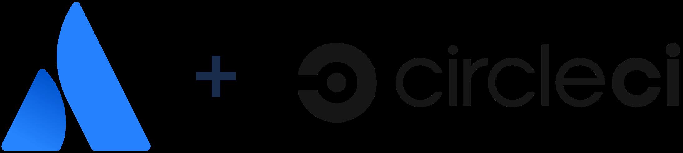 Logotipo de Atlassian + Logotipo de CircleCI