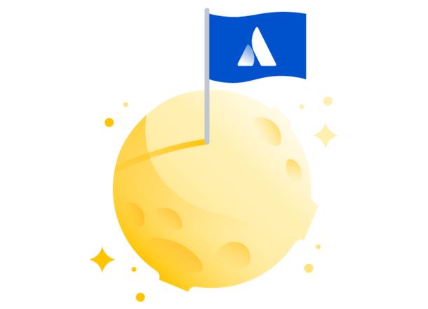 Atlassian branded marketplace bag