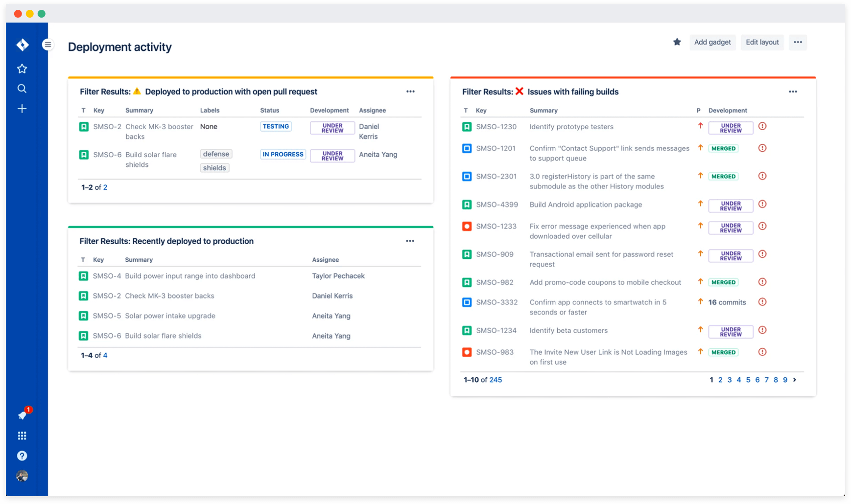 Get new, powerful views into your delivery pipeline with JQL