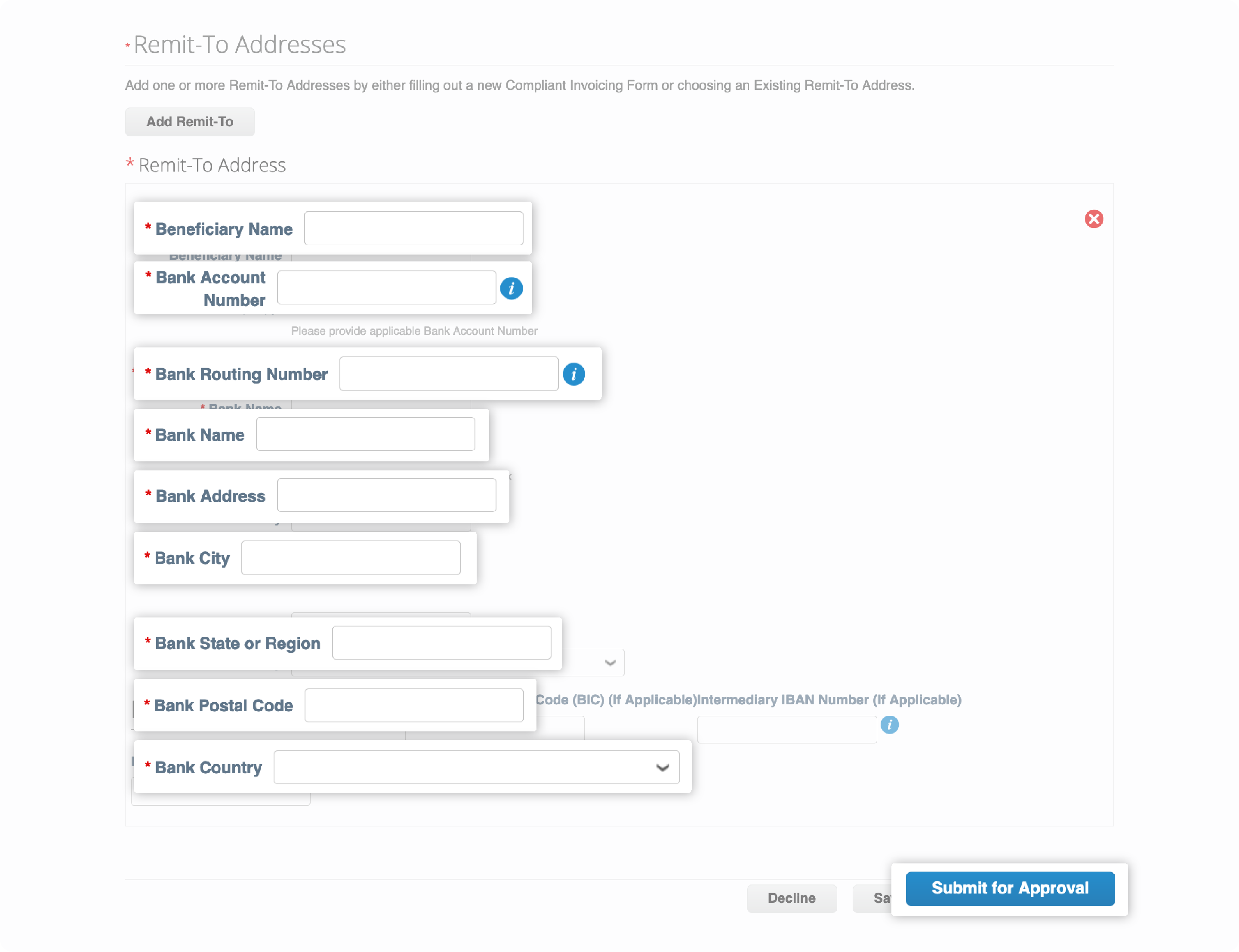 US Domestic Form Remit-To Address forms Coupa Supplier