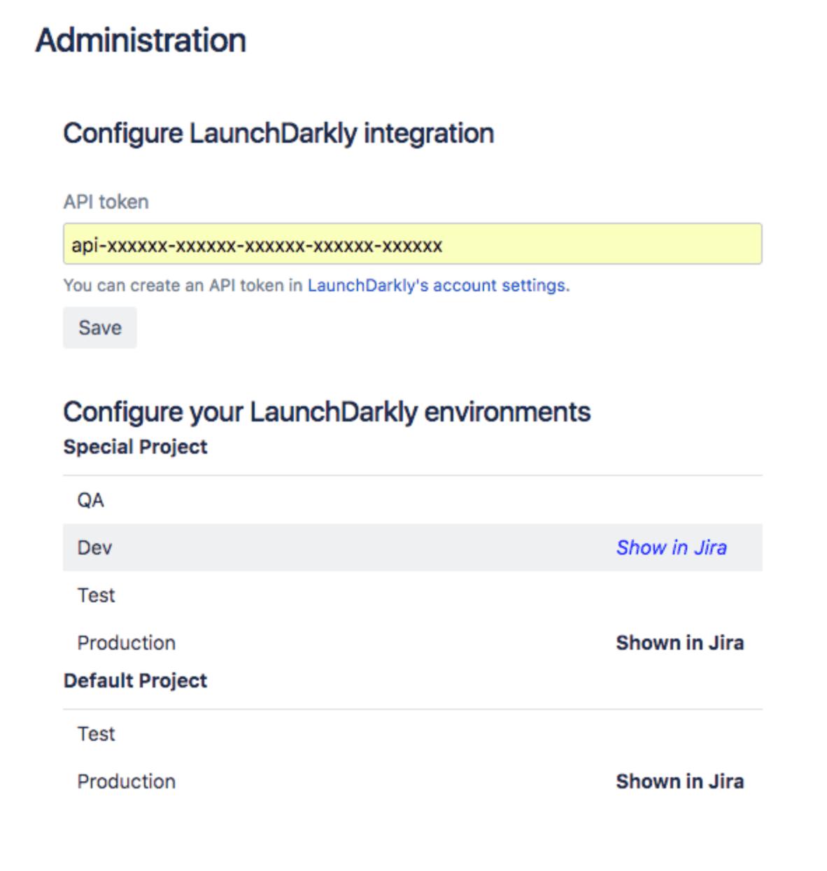 Configure LaunchDarkly integration