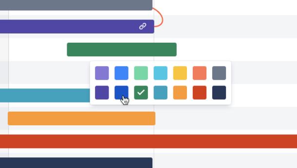 在 Jira Software 中的 Basic Roadmaps 上更改长篇故事颜色