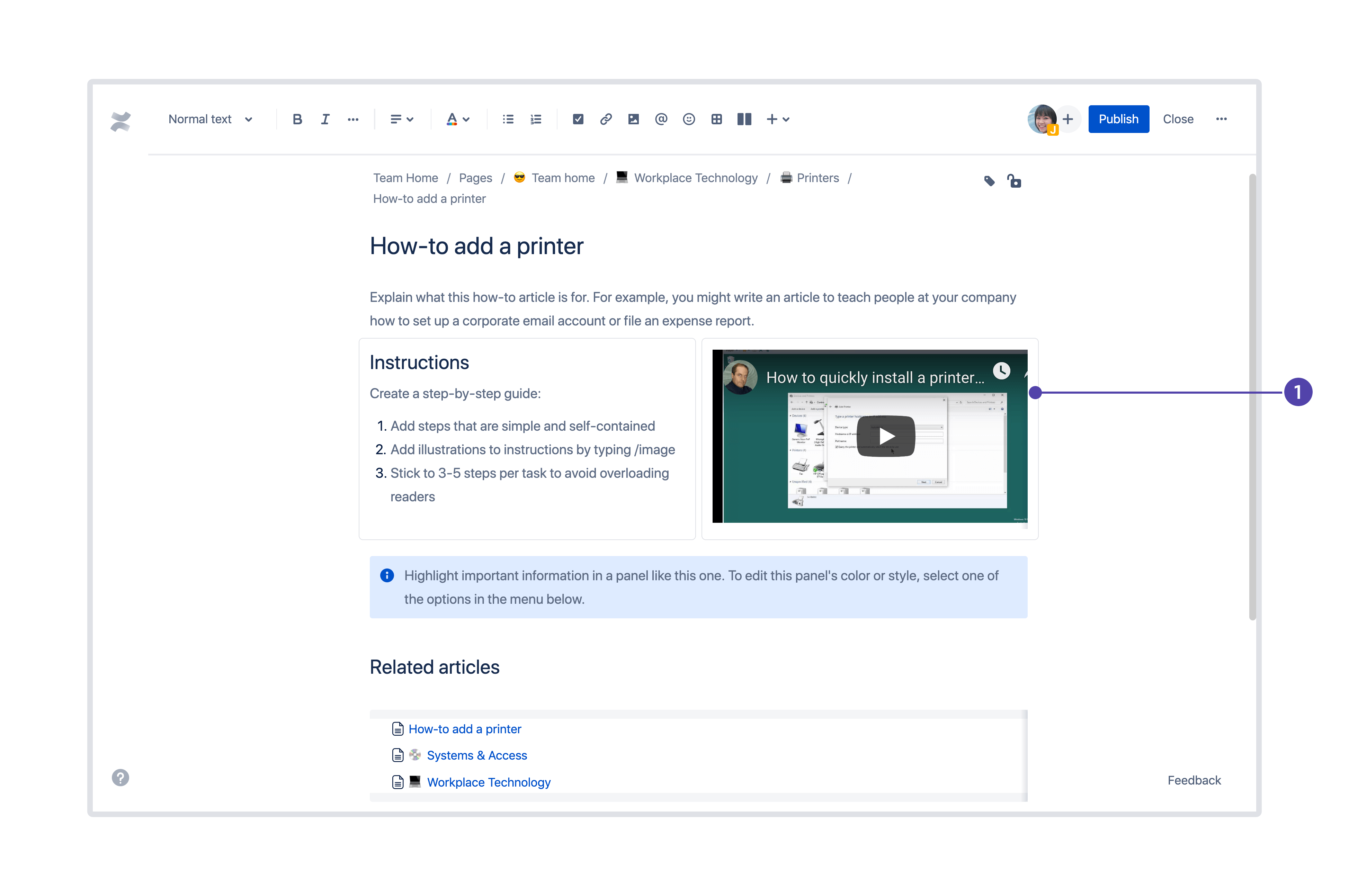 insert video in page