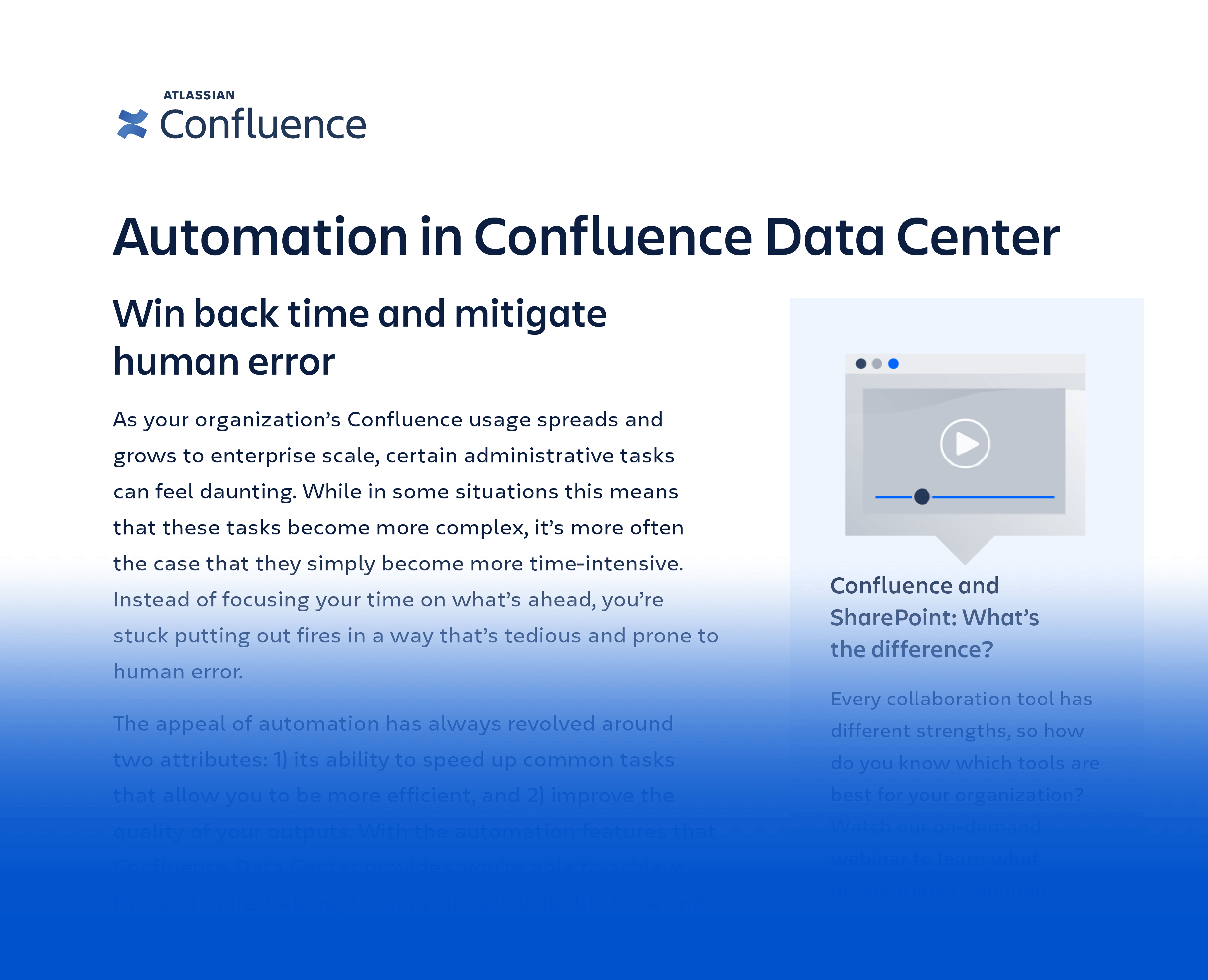 Data sheet: Automation in Confluence Data Center