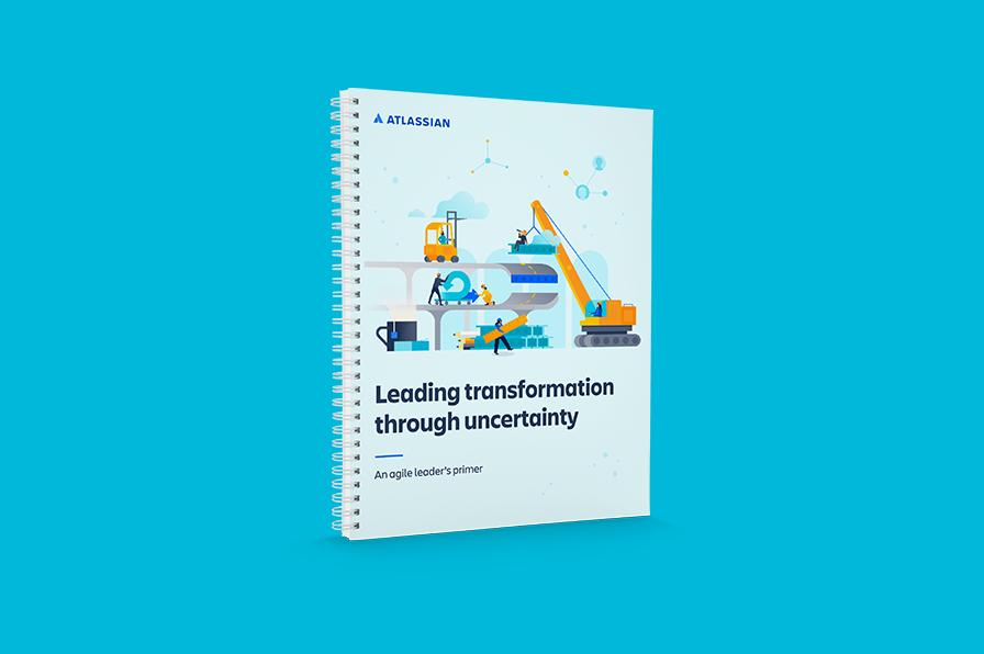 Transformacja w obliczu niepewności: przewodnik lidera Agile — obraz na okładkę