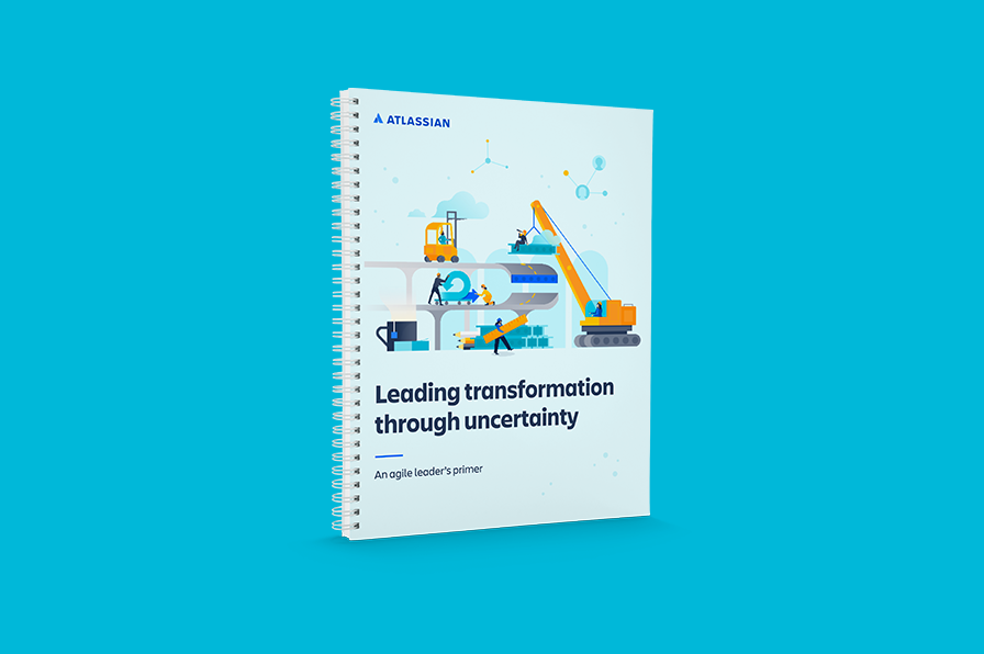 """Cover des Whitepapers """"Leading transformation through uncertainty, an agile leader's primer"""""""