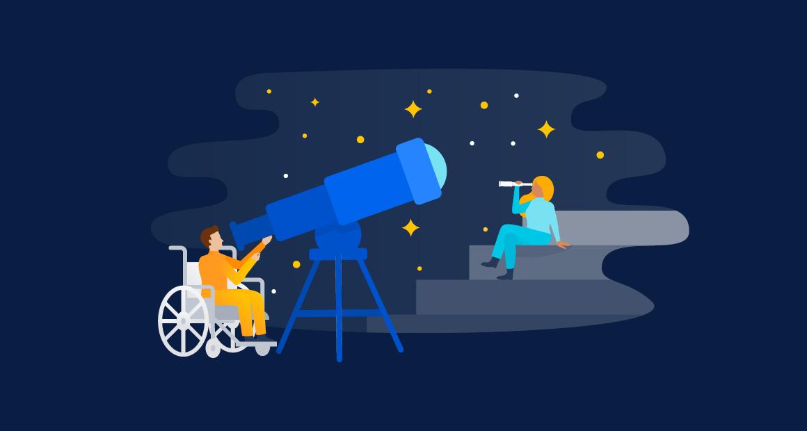 O telescópio largo