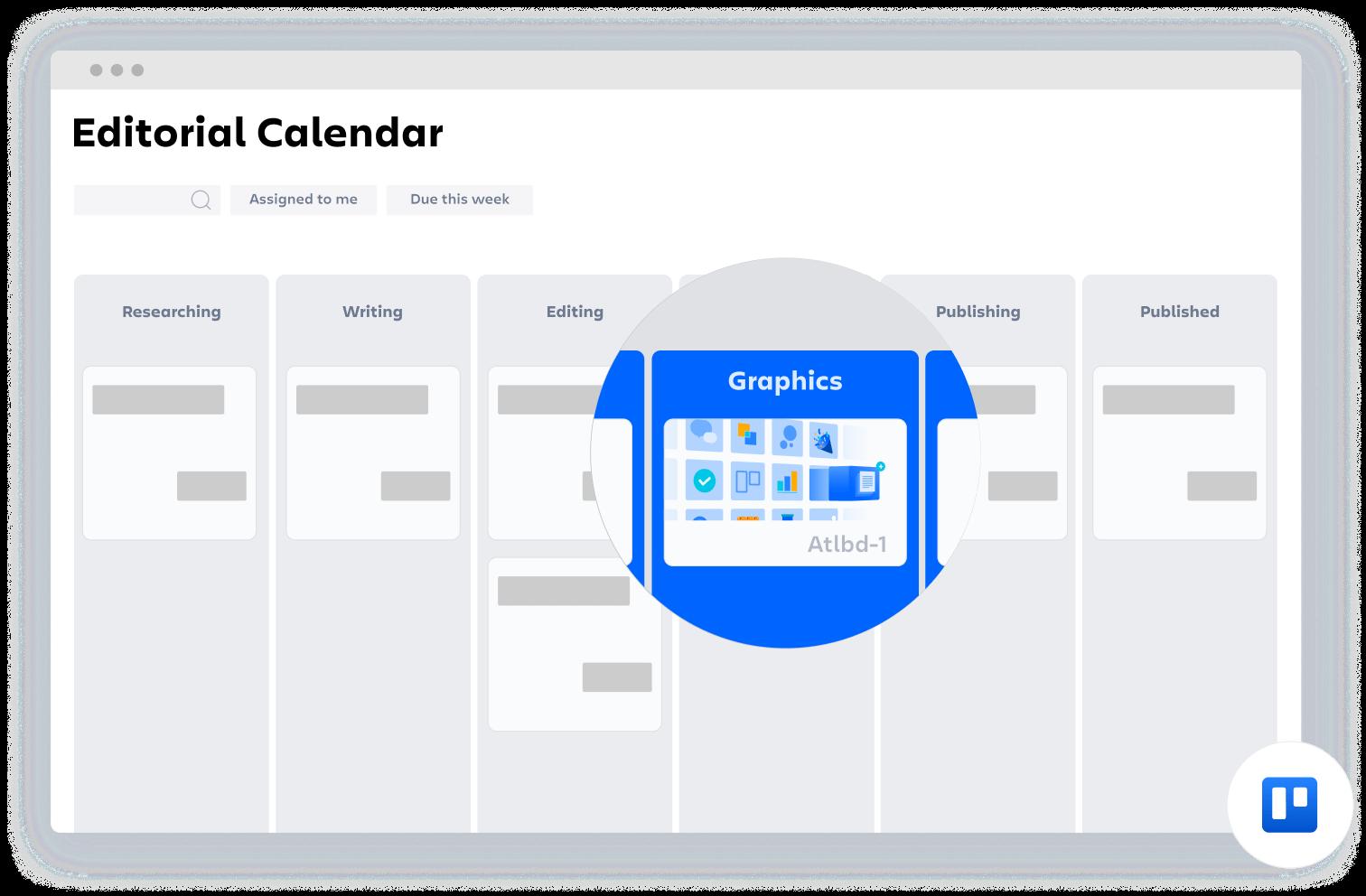 Modello di Confluence Calendario editoriale