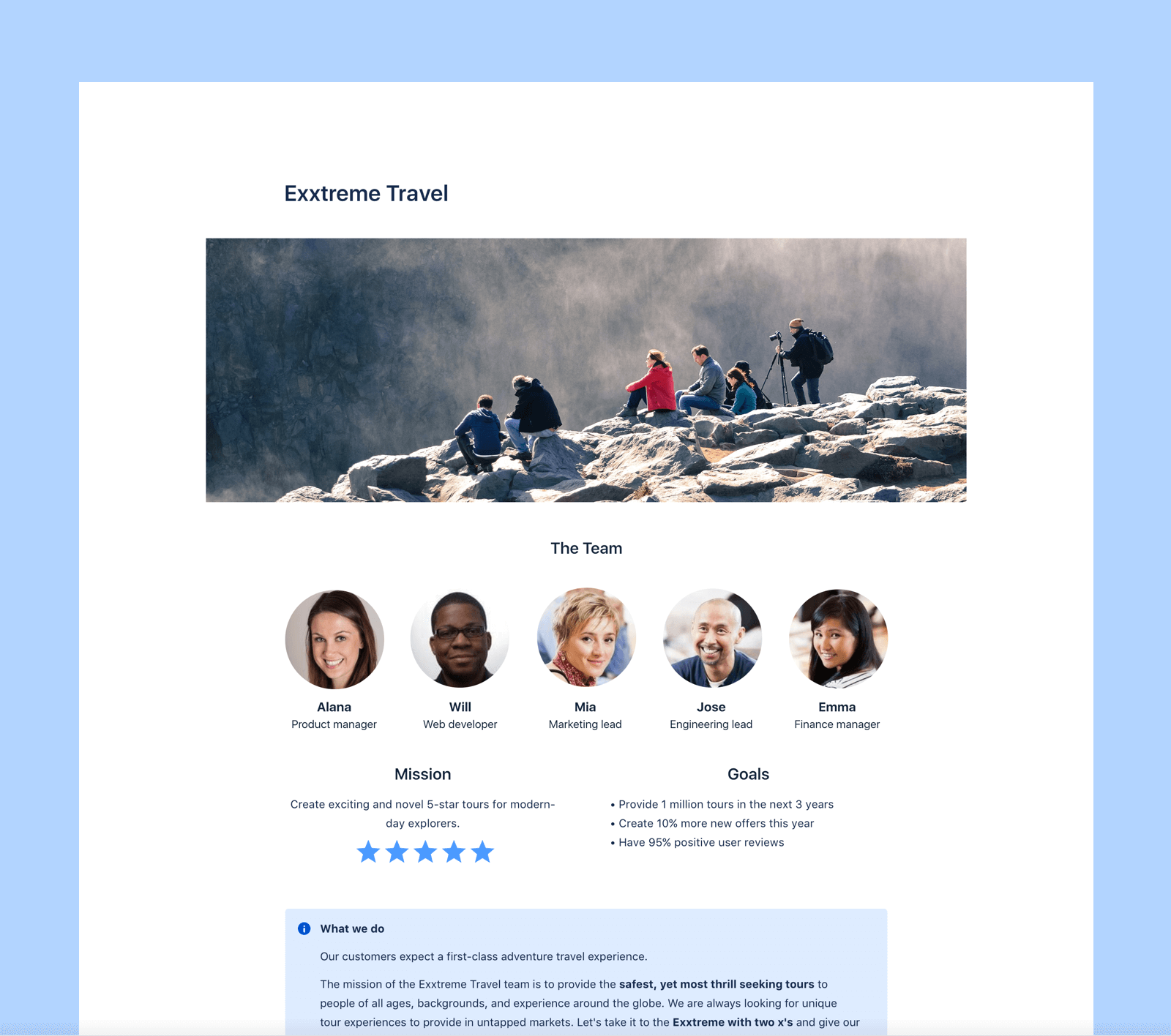 Sample space template