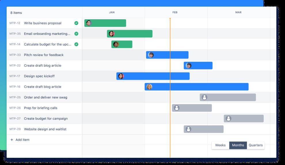 Timeline view screenshot