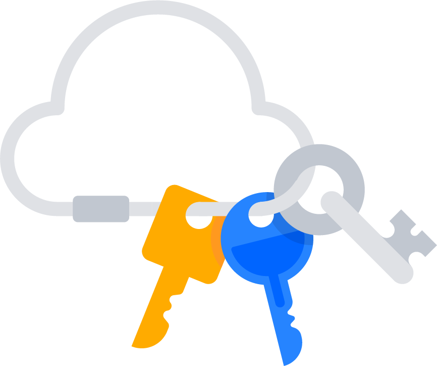 Cloud keychain with keys