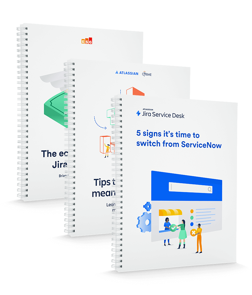 3 Booklets of Jira Service desk vs Servicenow comparison