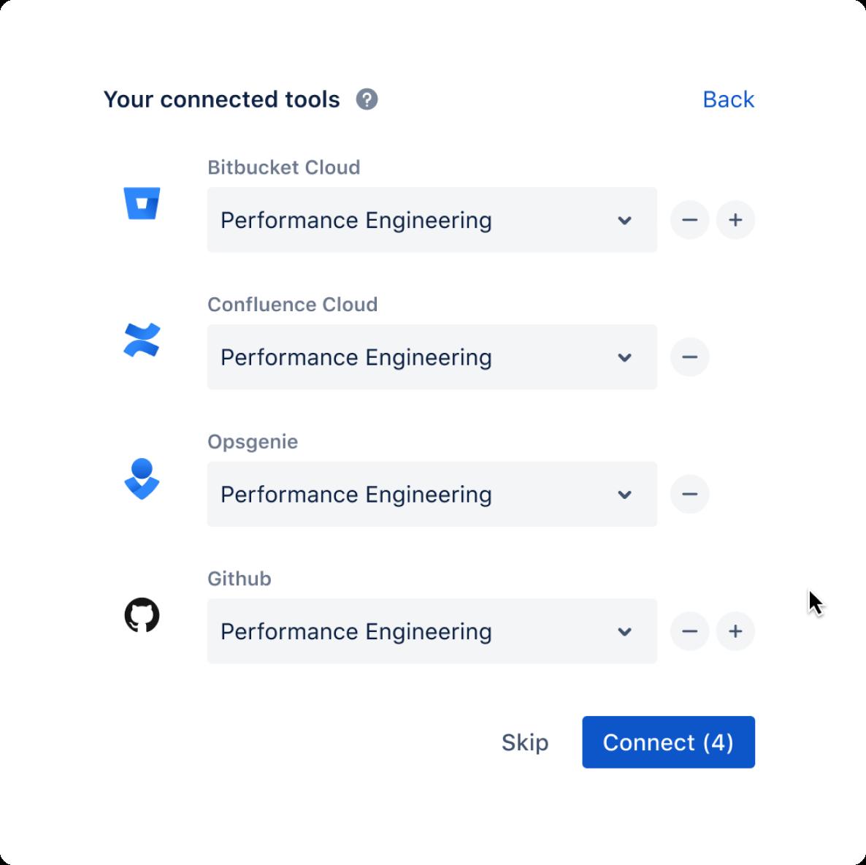 Tableaux de projet entourés d'un symbole infini, écran JiraDevOps
