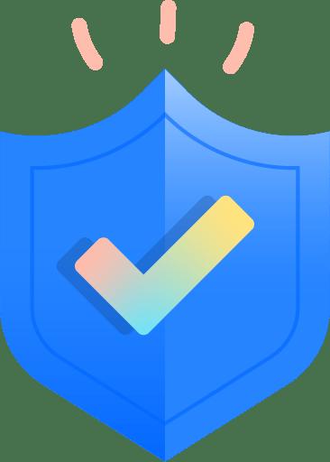 Escudo con marca de verificación