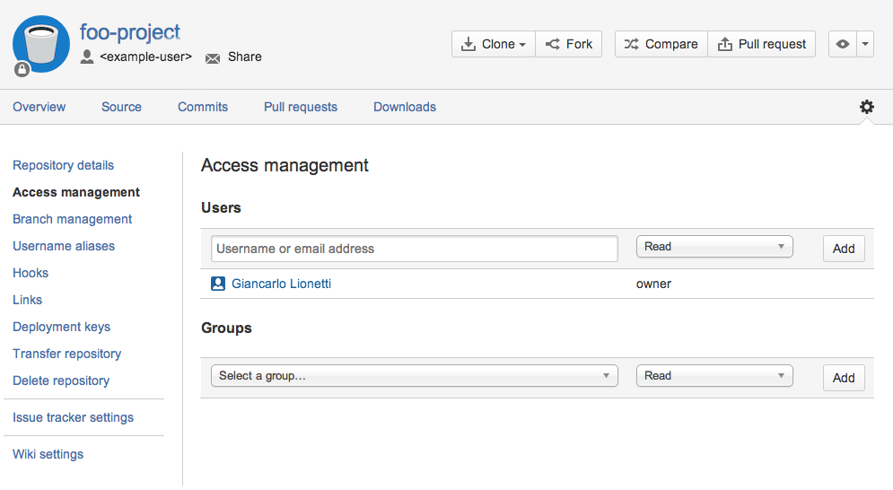 Git migration: Access management of Git repositories