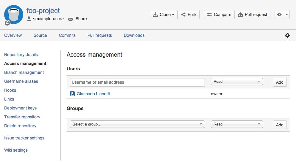 Git migration: Access management of Git repositories