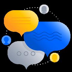 Ilustração de feedback contínuo