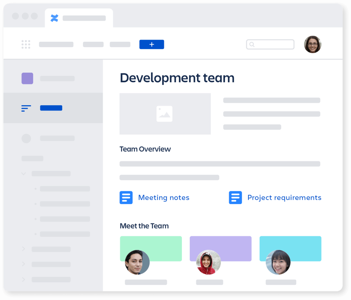 Team Space Homepage on Confluence