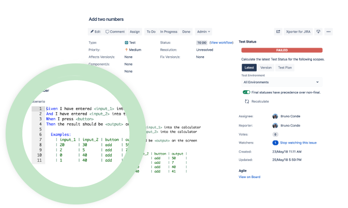 Test automation screen grab