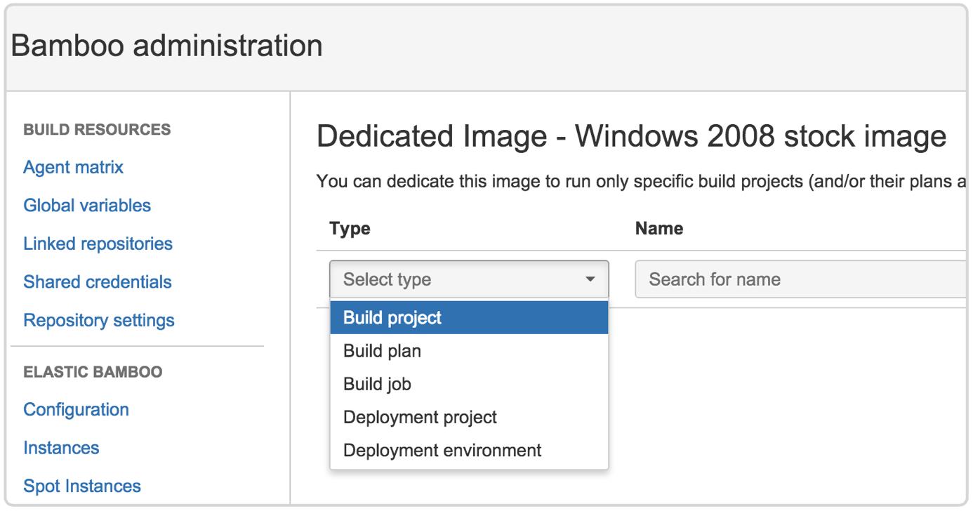Dedicated build agent screenshot