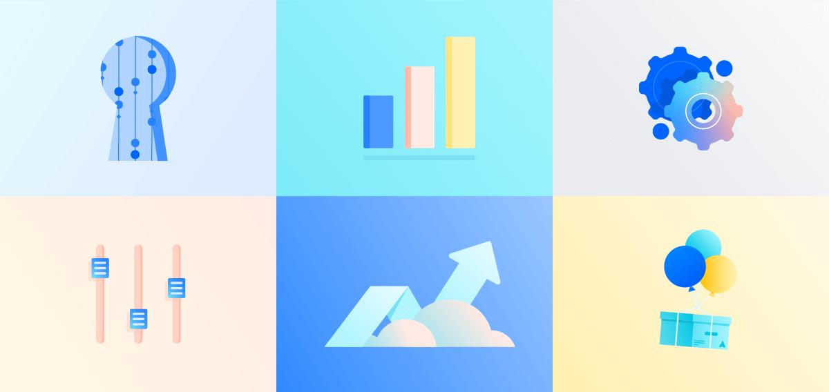 Ilustraciones de nubes