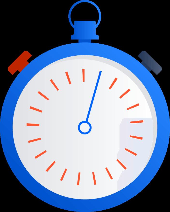 Ilustrație prezentând un cronometru