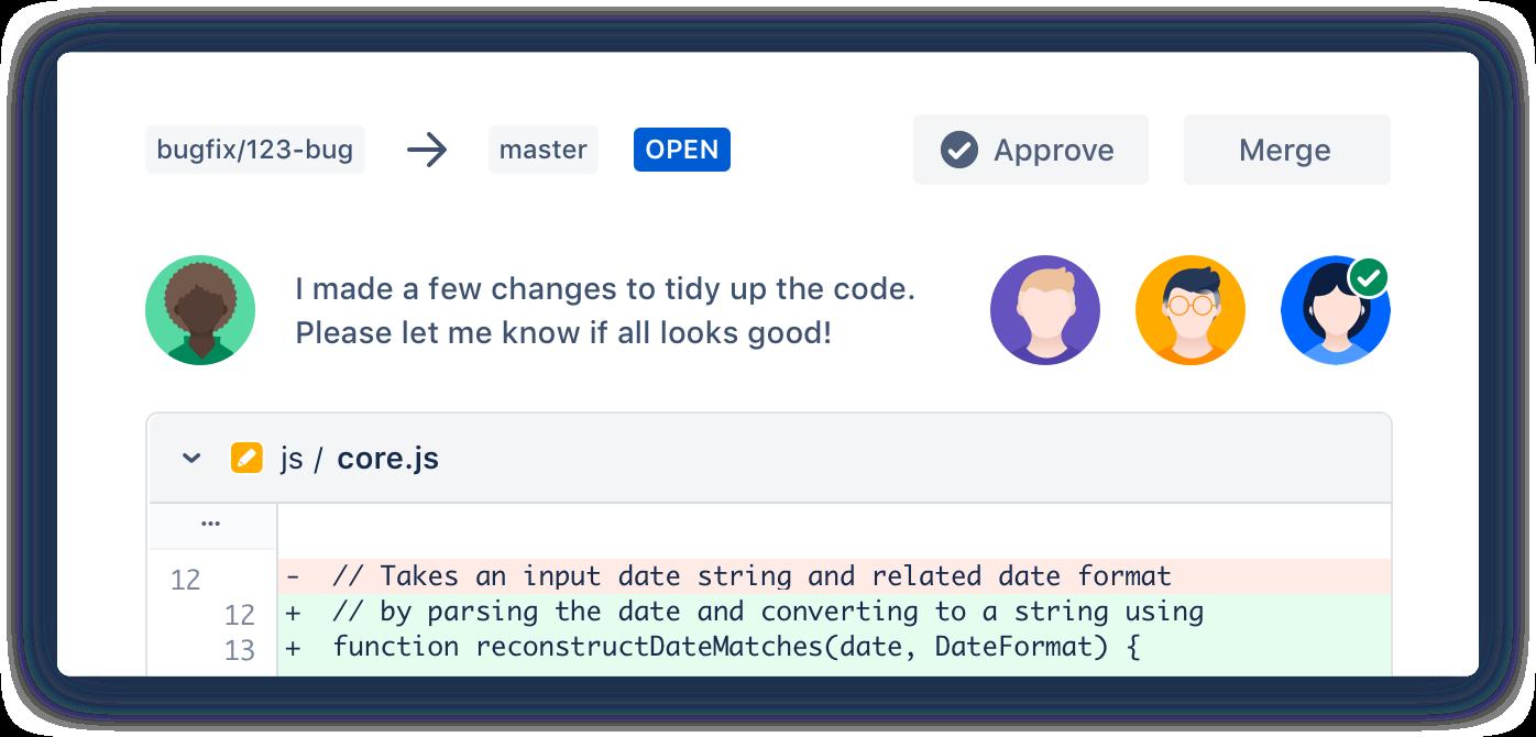 Exemple de pull request Bitbucket