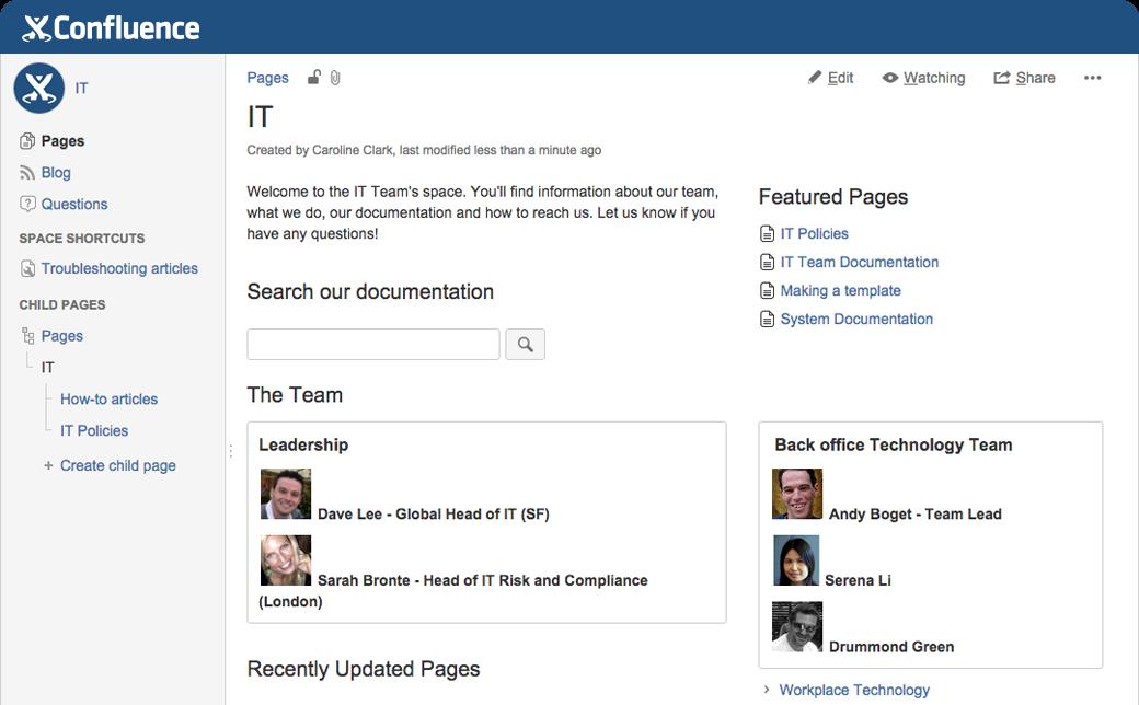 Documentación de TI sencilla y organizada