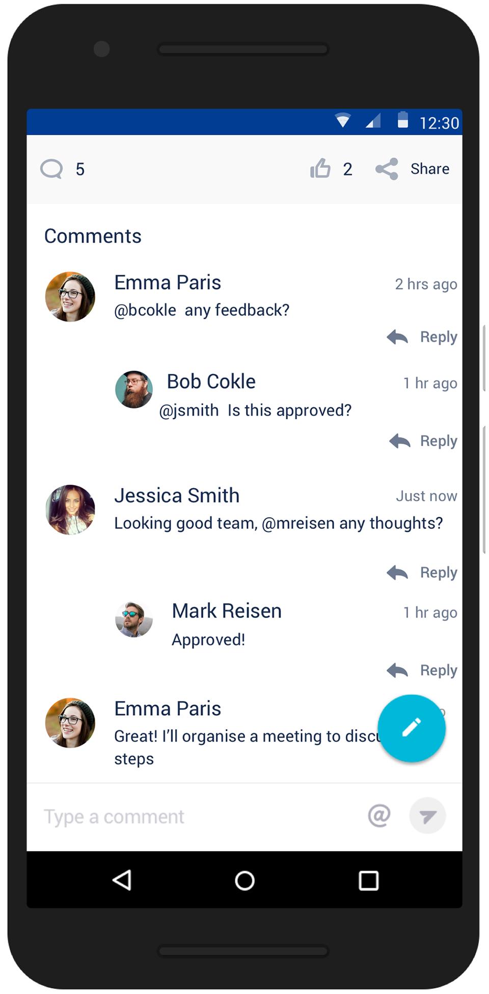 iPhone 用 Confluence