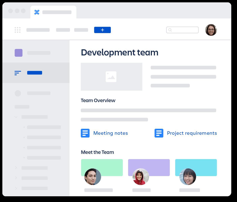 Gráfico do espaço da equipe de desenvolvimento