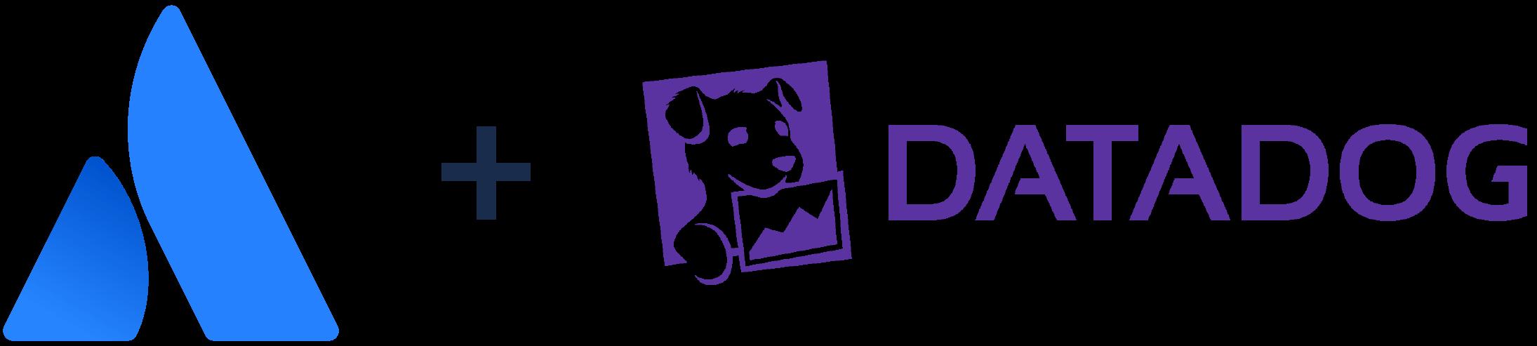 Логотип Atlassian+ логотип Datadog
